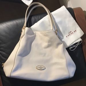 Coach Ivory leather bag with original dust bag!